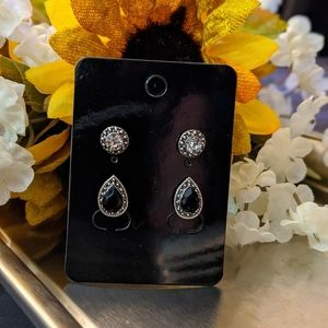 Unbranded/Boutique Jewelry - NWT 2 Pair Of Vintage Silver & Rhinestone Earrings